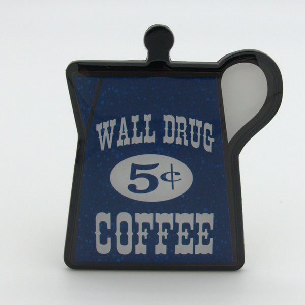 Blue 5 Cent Coffee Pot Magnet - Wall Drug Store