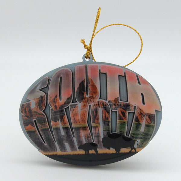South Dakota Fog Ornament