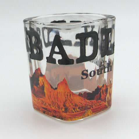 Badlands Etched Shot Glass