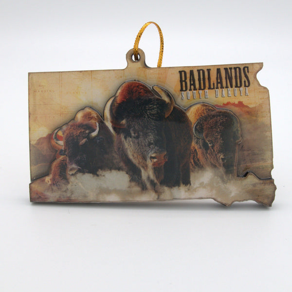 Badlands Buffalo Ornament - Wall Drug Store