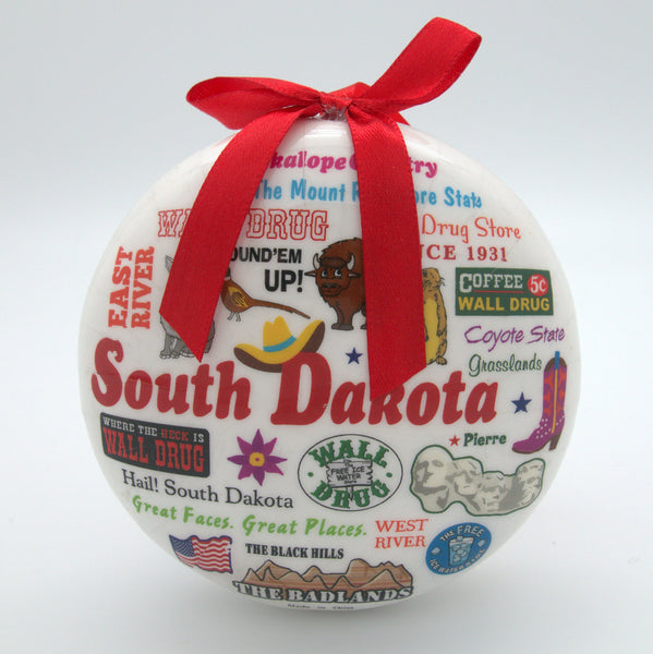 South Dakota Icon Ornament