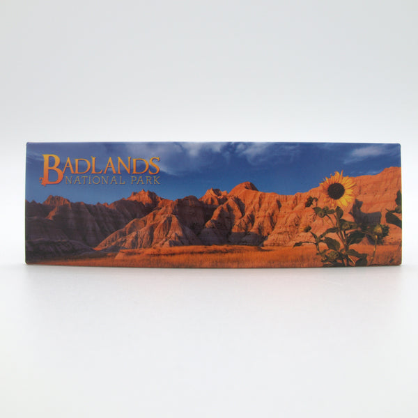 Badlands Sunflower Panoramic Magnet