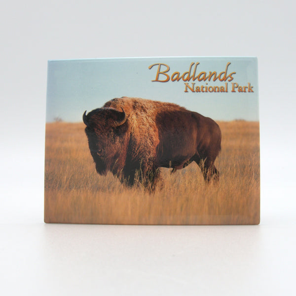 Badlands Buffalo Badge Magnet - Wall Drug Store