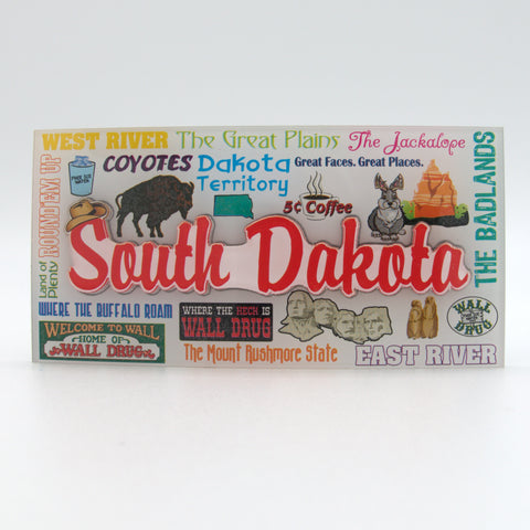 South Dakota Icons Magnet