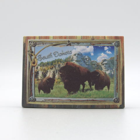 South Dakota Buffalo Canvas Magnet - Wall Drug Store