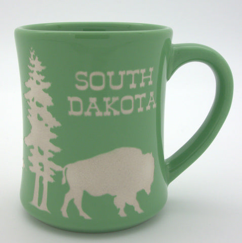 Diner Etched Green South Dakota Mug - Wall Drug Store