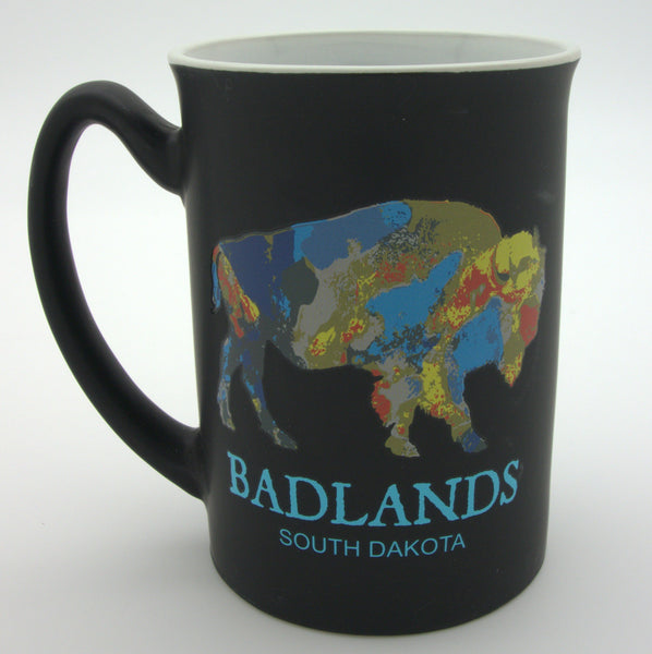Rainbow Badlands South Dakota Bison Matte Mug - Wall Drug Store
