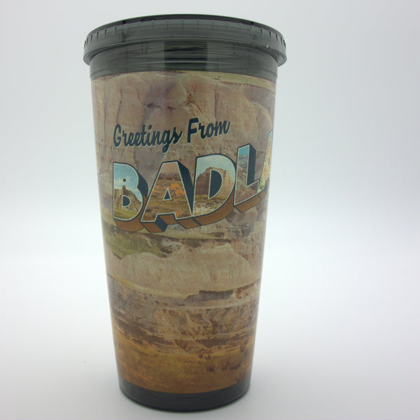 Greetings from Badlands South Dakota Tumbler