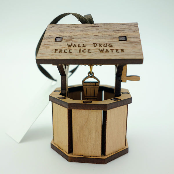 Wall Drug Free Ice Water Well Wood Laser Cut Ornament - Wall Drug Store
