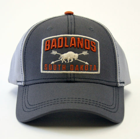 Badlands Buffalo and Arrows Baseball Hat