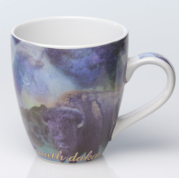 Ghost Buffalo South Dakota Mug