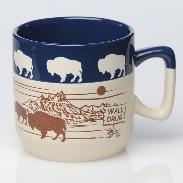 Buffalo Badlands Blue Rim Mug