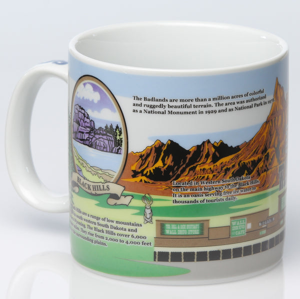 Jumbo South Dakota Facts Mug - Wall Drug Store