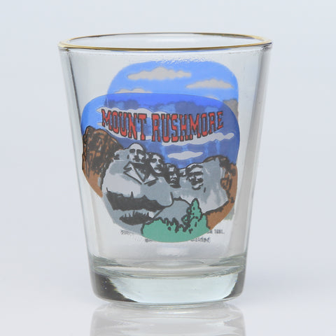 South Dakota Shot Glass--Behind Mount Rushmore