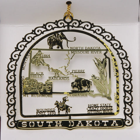 All 50 State Collectible Brass Ornaments