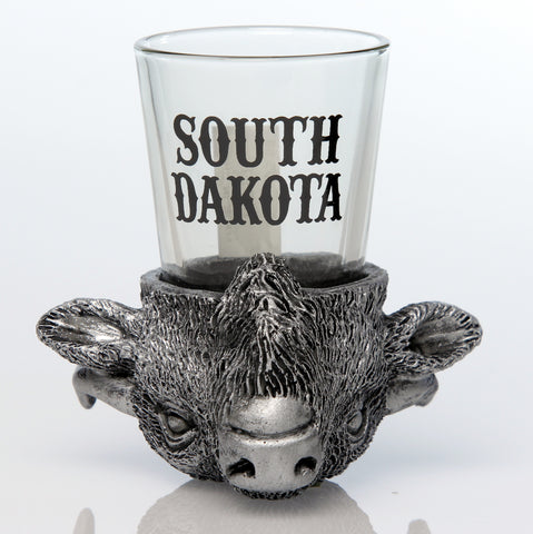 Buffalo Head Shot Glass