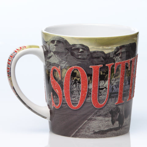 South Dakota Etched Ice Mug