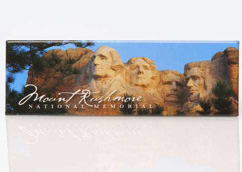 Mount Rushmore Cursive Panoramic Magnet