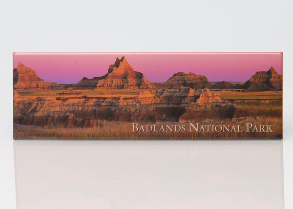 Pink Badlands Panoramic Magnet - Wall Drug Store