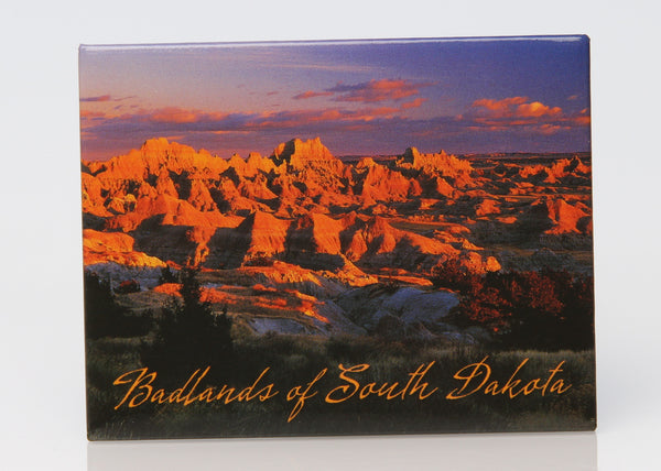 Badlands Sunset Badge Magnet