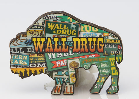 Wall Drug Billboard Buffalo Shaped Magnet