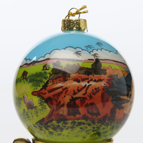 Badlands Hand Painted Ornament