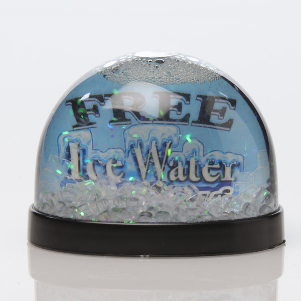 Free Ice Water Snow Globe with Ice Cubes