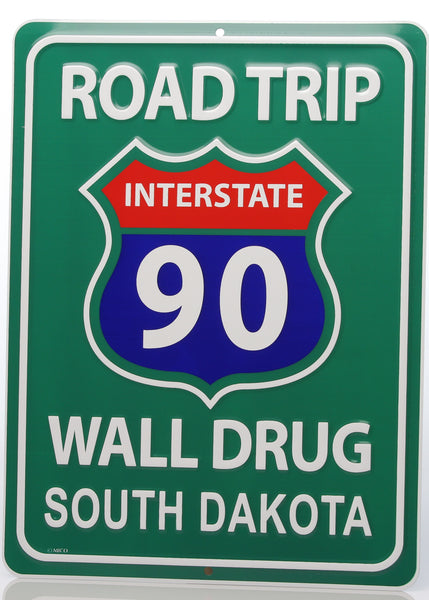 Tin Road Trip Sign - Wall Drug Store