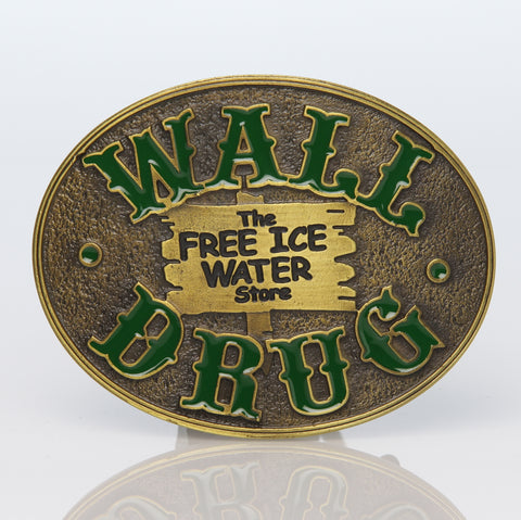 Wall Drug Brass Belt Buckle - Wall Drug Store
