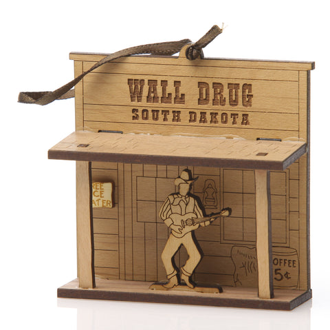 Wall Drug Storefront South Dakota Wood Laser Cut Ornament - Wall Drug Store