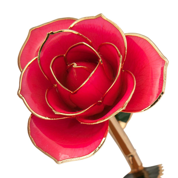 Pretty in Pink 24K Gold Dipped Rose - Wall Drug Store