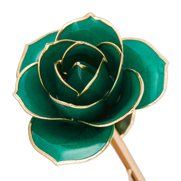 Daring Turquoise 24K Gold Dipped Rose - Wall Drug Store