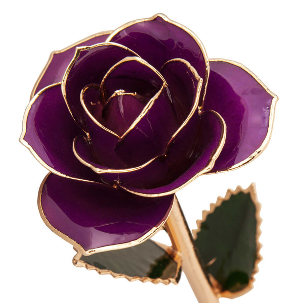 Royal Purple 24K Gold Dipped Rose - Wall Drug Store