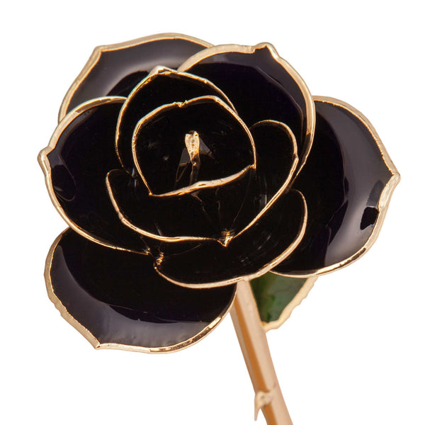 Diamond Black 24K Gold Dipped Rose - Wall Drug Store