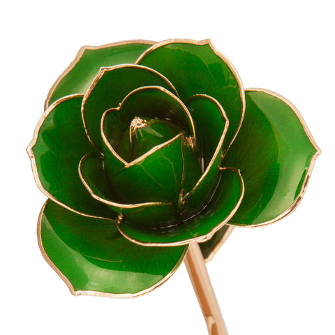 Lucky Green 24K Gold Dipped Rose - Wall Drug Store