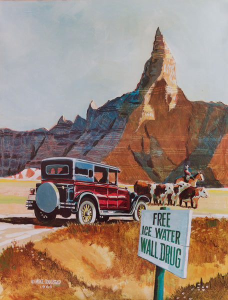 Badlands Wall Drug Sign Poster - Wall Drug Store