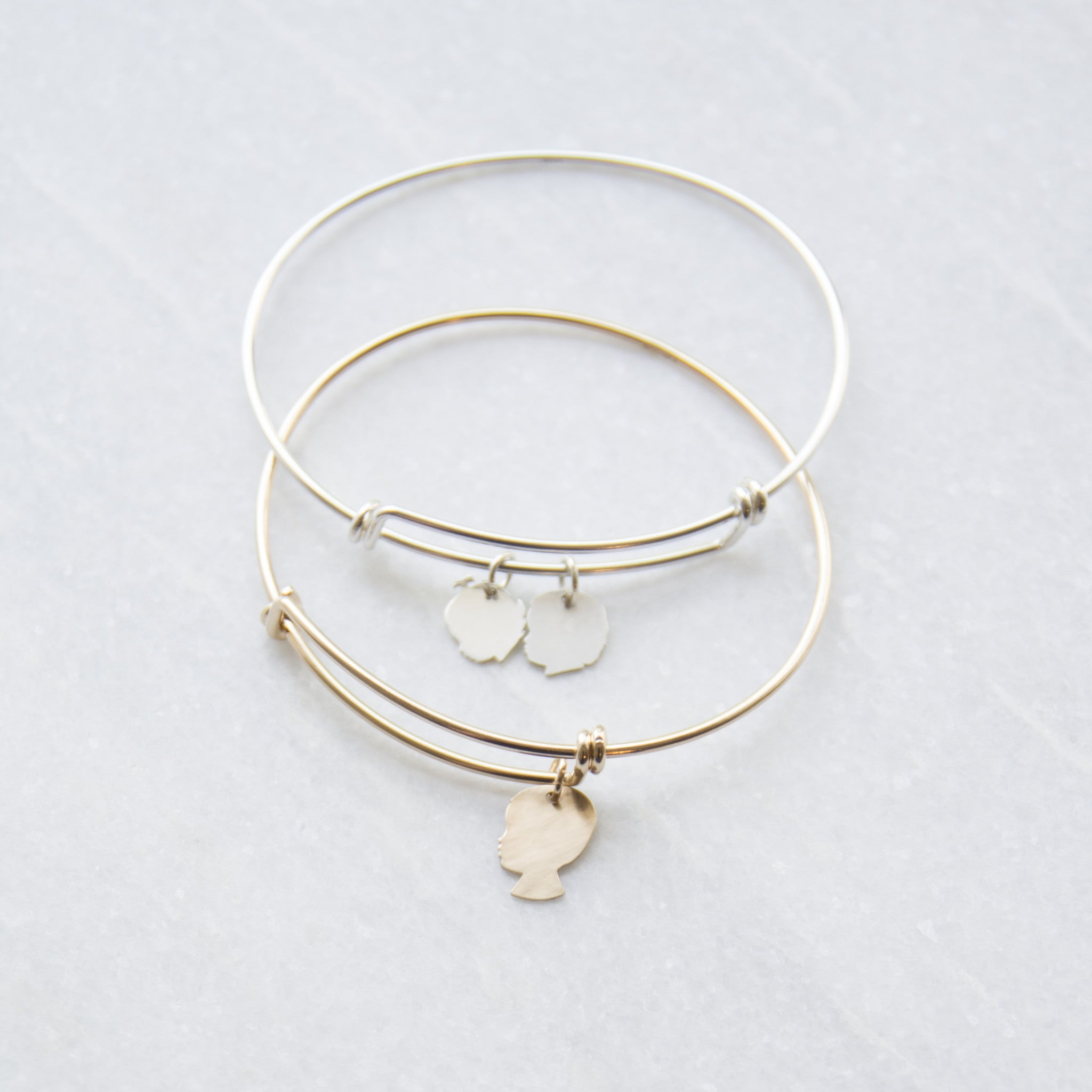 triple and bangles steel alex wholesale online adjusted store on bangle product bracelets with stainless loop adjustable ani wire expandable bracelet piece simple