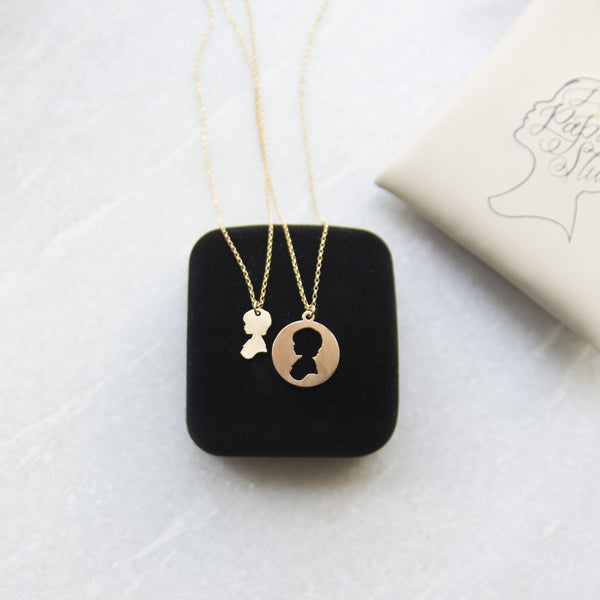 Laser Cut Silhouette Necklaces