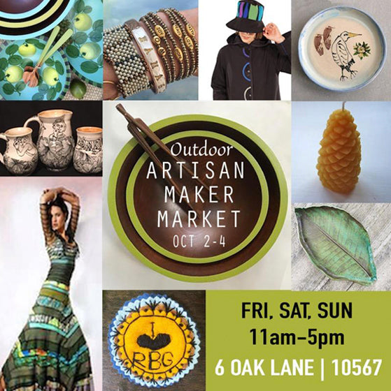 Artisan Maker Market, Take II, Oct 2 - 4 , 11 - 5!