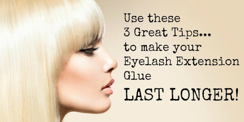 How long does eyelash extension glue last image