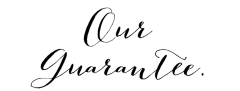 Our Guarantee Scripted Font