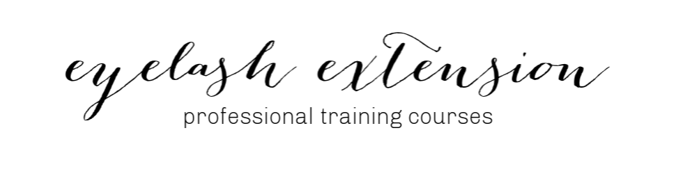 eyelash extension professional training course banner