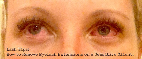 c99a1294350 Once you have just one client who has major irritation from Eyelash  Extension Glue, you will appreciate testing the glues on each client ...