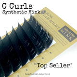 C Curl Synthetic Eyelash Extension Lash Trays C Curl