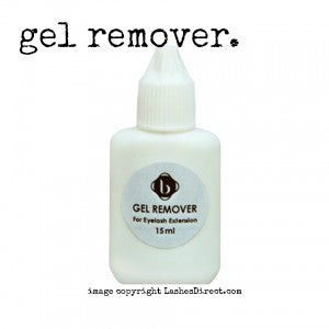 Blink Gel remover.  Use this gel to remove unwanted eyelashes applied with any eyelash extension glue.