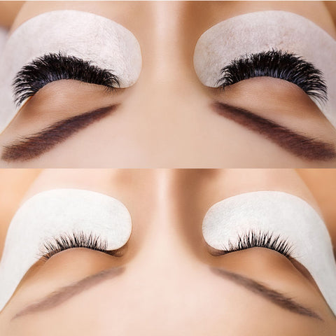 Before and After of Eyelash Extensions