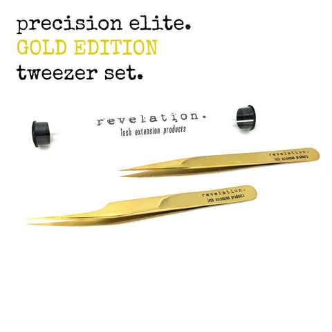Precision Elite GOLD EDITION Tweezer Set (Straight & Curved)