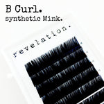 B Curl Synthetic Mink Eyelash Extension Lash Trays by Revelation.