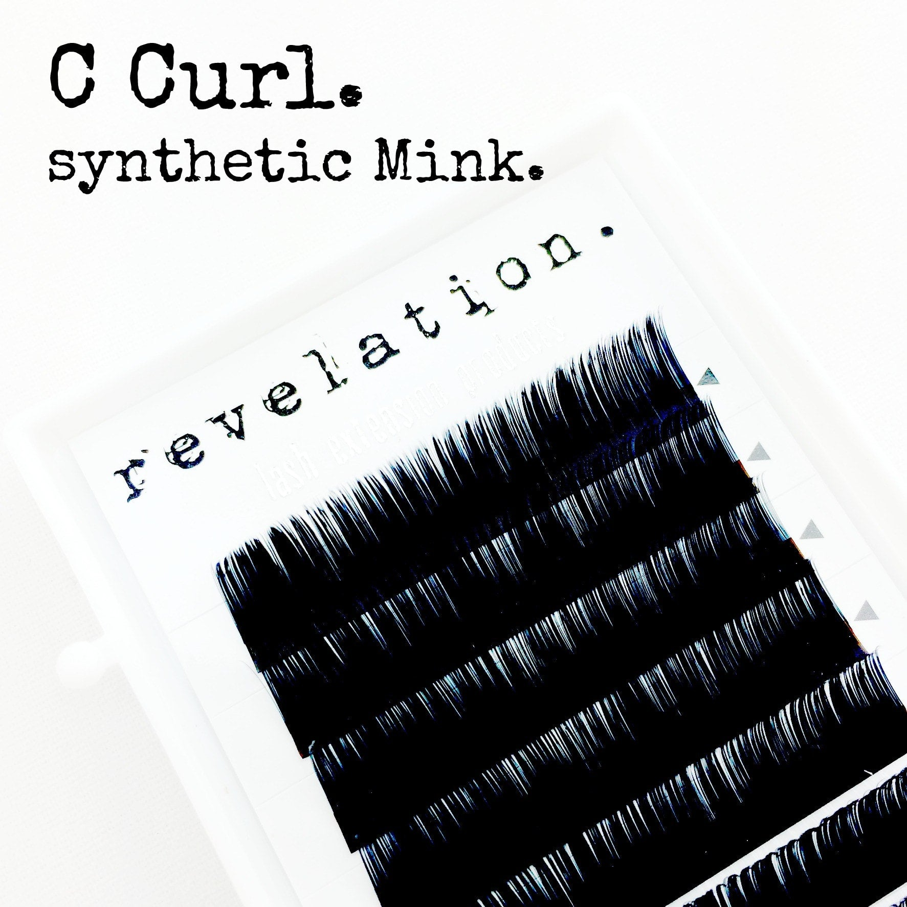 C Curl Synthetic Mink Eyelash Extension Lash Trays by Revelation.