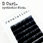 D Curl Synthetic Mink Eyelash Extension Lash Trays
